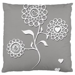 Flower Heart Plant Symbol Love Standard Flano Cushion Case (two Sides) by Nexatart