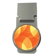 Abstract Orange Yellow Red Color Money Clips (round)  by Nexatart