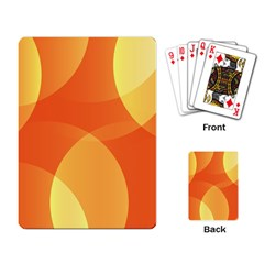 Abstract Orange Yellow Red Color Playing Card by Nexatart