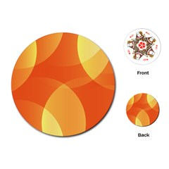 Abstract Orange Yellow Red Color Playing Cards (round)  by Nexatart