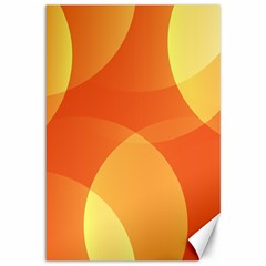 Abstract Orange Yellow Red Color Canvas 12  X 18   by Nexatart