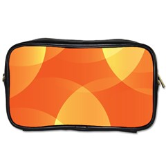 Abstract Orange Yellow Red Color Toiletries Bags 2 Side