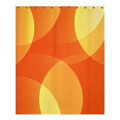 Abstract Orange Yellow Red Color Shower Curtain 60  X 72  (medium)  by Nexatart