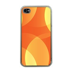 Abstract Orange Yellow Red Color Apple Iphone 4 Case (clear) by Nexatart