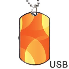 Abstract Orange Yellow Red Color Dog Tag Usb Flash (one Side) by Nexatart