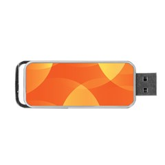 Abstract Orange Yellow Red Color Portable Usb Flash (one Side) by Nexatart