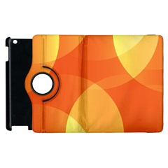 Abstract Orange Yellow Red Color Apple Ipad 2 Flip 360 Case by Nexatart