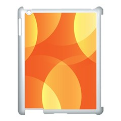 Abstract Orange Yellow Red Color Apple Ipad 3/4 Case (white) by Nexatart