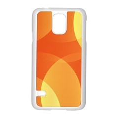 Abstract Orange Yellow Red Color Samsung Galaxy S5 Case (white) by Nexatart