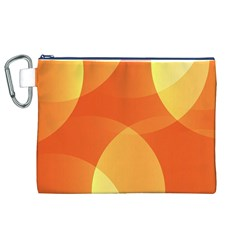 Abstract Orange Yellow Red Color Canvas Cosmetic Bag (xl) by Nexatart