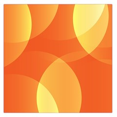 Abstract Orange Yellow Red Color Large Satin Scarf (square) by Nexatart