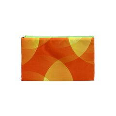 Abstract Orange Yellow Red Color Cosmetic Bag (xs) by Nexatart