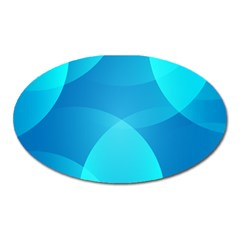 Abstract Blue Wallpaper Wave Oval Magnet by Nexatart