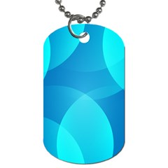 Abstract Blue Wallpaper Wave Dog Tag (two Sides) by Nexatart