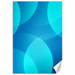 Abstract Blue Wallpaper Wave Canvas 12  X 18   by Nexatart