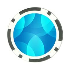 Abstract Blue Wallpaper Wave Poker Chip Card Guard by Nexatart