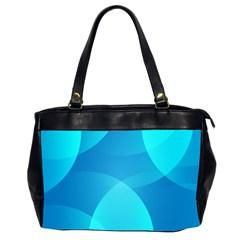 Abstract Blue Wallpaper Wave Office Handbags (2 Sides)  by Nexatart