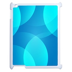 Abstract Blue Wallpaper Wave Apple Ipad 2 Case (white) by Nexatart