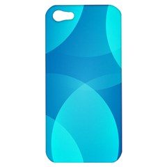 Abstract Blue Wallpaper Wave Apple Iphone 5 Hardshell Case by Nexatart