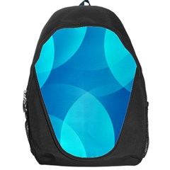 Abstract Blue Wallpaper Wave Backpack Bag by Nexatart