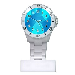 Abstract Blue Wallpaper Wave Plastic Nurses Watch by Nexatart