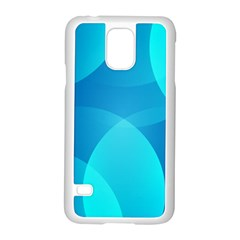 Abstract Blue Wallpaper Wave Samsung Galaxy S5 Case (white) by Nexatart