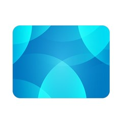Abstract Blue Wallpaper Wave Double Sided Flano Blanket (mini)  by Nexatart