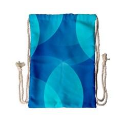 Abstract Blue Wallpaper Wave Drawstring Bag (small) by Nexatart