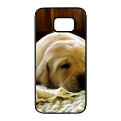 2 Puppy Yl Samsung Galaxy S7 edge Black Seamless Case by TailWags