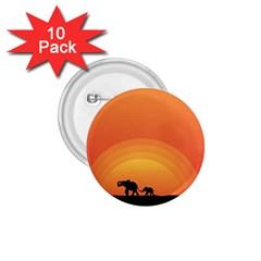 Elephant Baby Elephant Wildlife 1 75  Buttons (10 Pack) by Nexatart
