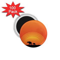 Elephant Baby Elephant Wildlife 1 75  Magnets (100 Pack)  by Nexatart