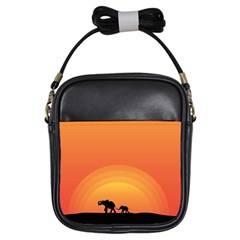 Elephant Baby Elephant Wildlife Girls Sling Bags by Nexatart