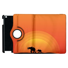 Elephant Baby Elephant Wildlife Apple Ipad 2 Flip 360 Case by Nexatart