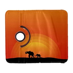 Elephant Baby Elephant Wildlife Galaxy S3 (flip/folio) by Nexatart