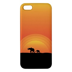Elephant Baby Elephant Wildlife Iphone 5s/ Se Premium Hardshell Case by Nexatart