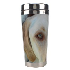 2 Yellow Lab Stainless Steel Travel Tumblers by TailWags