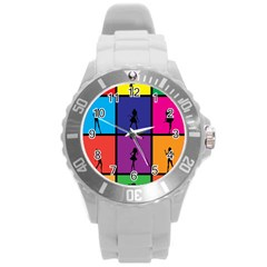 Girls Fashion Fashion Girl Young Round Plastic Sport Watch (l) by Nexatart