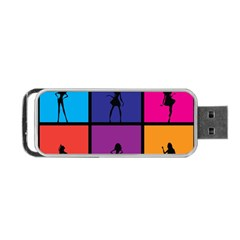 Girls Fashion Fashion Girl Young Portable Usb Flash (two Sides) by Nexatart