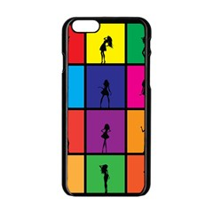 Girls Fashion Fashion Girl Young Apple Iphone 6/6s Black Enamel Case by Nexatart