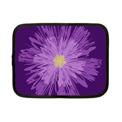 Purple Flower Floral Purple Flowers Netbook Case (small)  by Nexatart