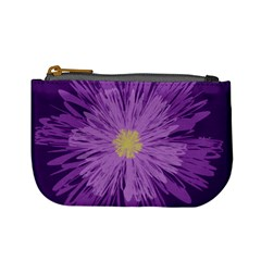 Purple Flower Floral Purple Flowers Mini Coin Purses by Nexatart