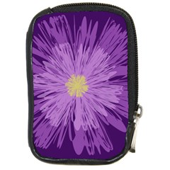 Purple Flower Floral Purple Flowers Compact Camera Cases by Nexatart