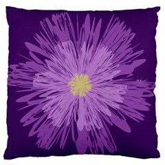 Purple Flower Floral Purple Flowers Large Flano Cushion Case (two Sides) by Nexatart