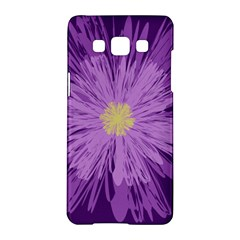 Purple Flower Floral Purple Flowers Samsung Galaxy A5 Hardshell Case  by Nexatart