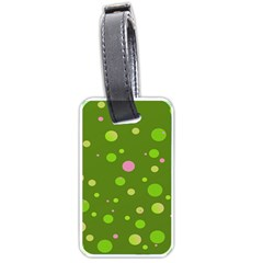 Decorative Dots Pattern Luggage Tags (one Side)  by ValentinaDesign