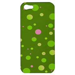 Decorative Dots Pattern Apple Iphone 5 Hardshell Case by ValentinaDesign