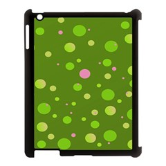 Decorative Dots Pattern Apple Ipad 3/4 Case (black) by ValentinaDesign