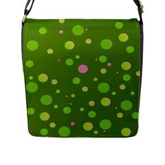 Decorative Dots Pattern Flap Messenger Bag (l)  by ValentinaDesign