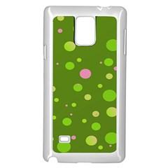 Decorative Dots Pattern Samsung Galaxy Note 4 Case (white) by ValentinaDesign