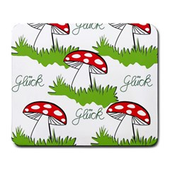 Mushroom Luck Fly Agaric Lucky Guy Large Mousepads by Nexatart